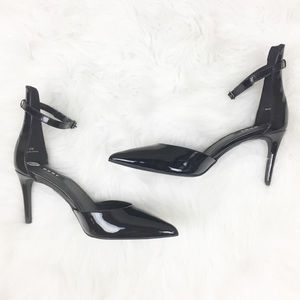 DKNY | Pointed Black Leather Heels